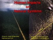 111610 - Human Impacts on Natural Systems