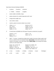 Basic Atomic Structure Worksheet ANSWERS - Basic Atomic Structure ...