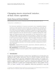 Zhang & Whitley - Changing macro-structural varieties of East Asian Capitalism.pdf