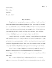 Leadaer in You Essay