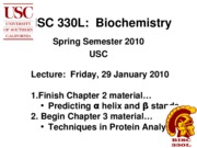 BISC 330 Spring 2010 Lecture 8