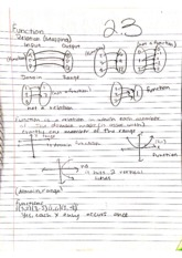 College Math 2.3 Function Relation Mapping Notes