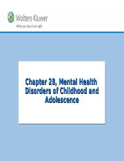 Chapter 28 Mental Health Disorders of Childhood and Adolescence.ppt