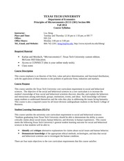 Syllabus ECO 2301 Fall 2014