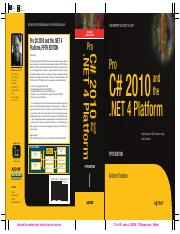 2010 - Pro C# 2010 and the .NET 4 Platform 5e (Apress)