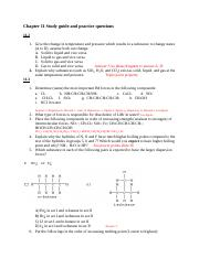 Chapter 11 Study guide - answers