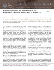 Mely Caballero-Anthony - Nontraditional Security and Multilateralism in Asia.pdf