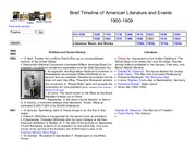 Brief Timeline of American Literature and Events_1900s