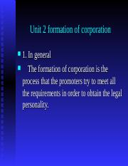 Unit 2 formation of corporation.ppt
