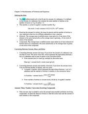 Chapter 3, Stioichiometry