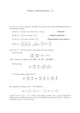 Differential Geometry Problem Set 7