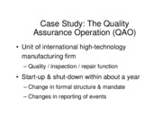 Chapter 3 - QAO Case Study