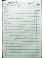 MATH 100 : notes of numerical Analysis - Thapar University -
