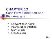 Zhang_Student_Chapter 12_Cash Flow Estimation and Risk Analysis