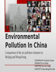 CCCH9036 Environmental Pollution In China