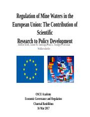 Chantsal-Mine waters in EU ppt