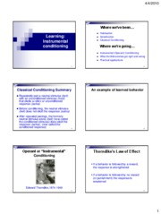 P11B+Slides+3--Learning+Theory-Instrumental+conditioning