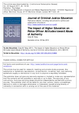 The Impact of Higher Education on Police Officer Attitudes (Telep, 2011)