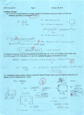 Materials Science and Engineering 104 - Quiz 1 - Professor Lan - Winter 2013