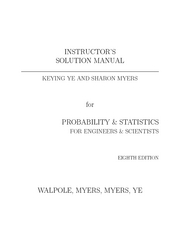 Probability and statistics solution manual