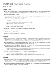 Study Guide for Final Exam ACTSC371