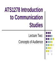 ATS1278 - Intro 2 Com - Aust Lec Notes - Week 2 - 2013.ppt