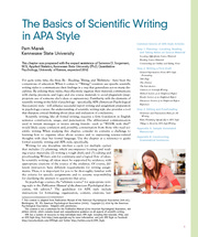 Basics of Scientific  Writing in APA Style- Marek
