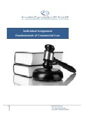 Home Assignment_Fundamentals of Commercial Law.docx