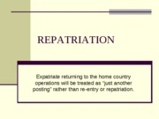 REPATRIATION