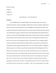 intro to scifi Disney Response FINAL - little mermaid.edited.docx