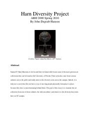 DIVERSITY PAPER,Final research paper
