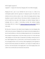 compare contrast essay online education