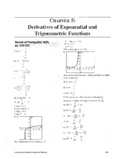 derivatives exponential and trig