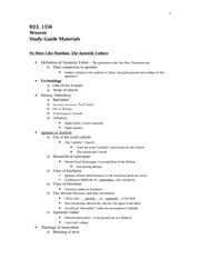 REL 1350 Study Guide 2012