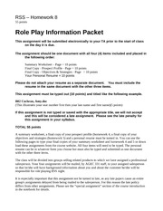 Due 032113 RSS HW 8 Role Play Packet(1)