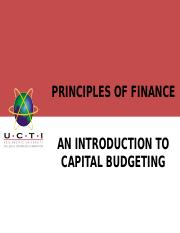 Lecture 6_ Introduction to Capital Budgeting.ppt