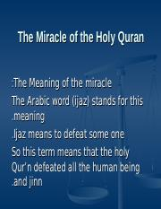 isl. lecture#10 the miracle of the holy Qura'n