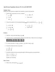 Alg B Linear Equations Lessons 35, 41, 64 and 65 REVIEW.pdf