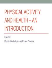 ES 2100 - PA and Health - Introduction  FA 15 (1)