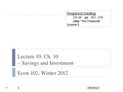 Econ+102+lecture+10%2C+2-9-12+-+Savings+and+investment copy