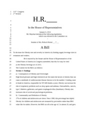 Model Congress Bill
