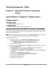 CH07A - Problem Solve 1 Assignment Instructions - 40261