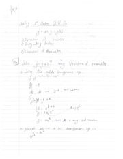Solving First Order Differential Equations Notes