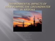 Environmental impacts of over-pumping groundwater in the South
