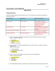 PSY 201 Week 5 assignment psy201_r2_appendix_b