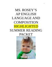 AP Highlighted Summer Reading Packet 2014 (.doc Version)