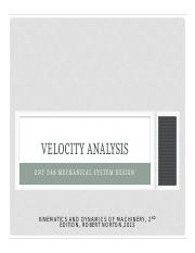 Lecture 6 Velocity Analysis