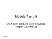 short term and long term financing
