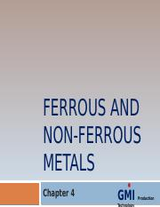 Chapter 4 - Ferrous & Non Ferrous Metals