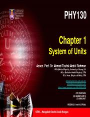 PHY 130 - Chapter 1 - System of Units.pdf